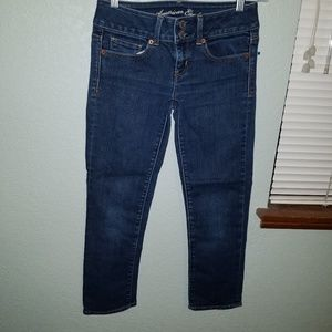 "American Eagle ""Artist"" stretch crop jeans"